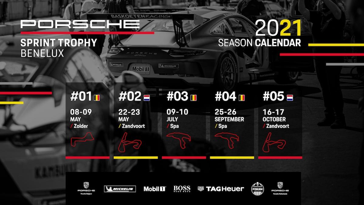 Porsche, Porsche Sprint Trophy Benelux, 2021, kalender